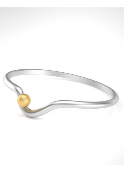 SIMPLE GOLD ROCK BRACELET