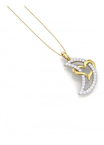 HEART MOON PENDANT