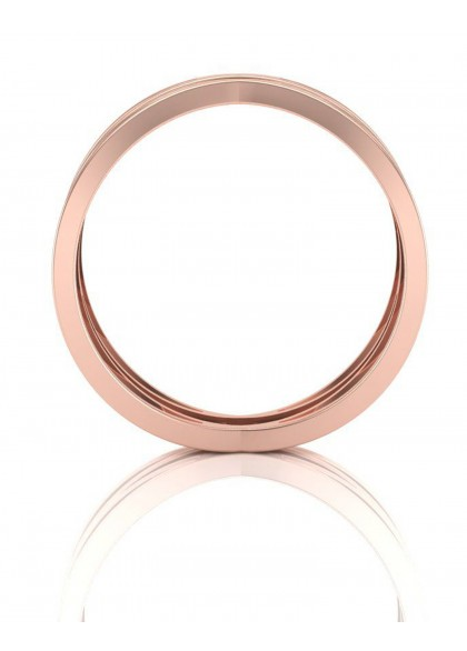 CIRSS CROSS ROSE GOLD RING