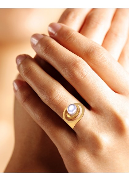 ORBITTING PEARL RING