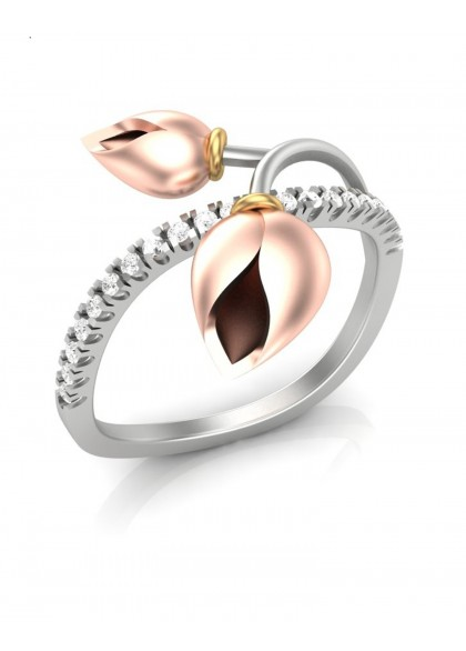LOTUS BUDS DIAMOND RING