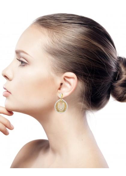 GOLDEN WHEAT CHAFF  EARRINGS