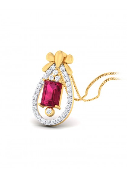 RUBY DROP PENDANT