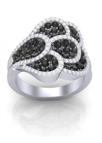 BLACK ORCHID RING
