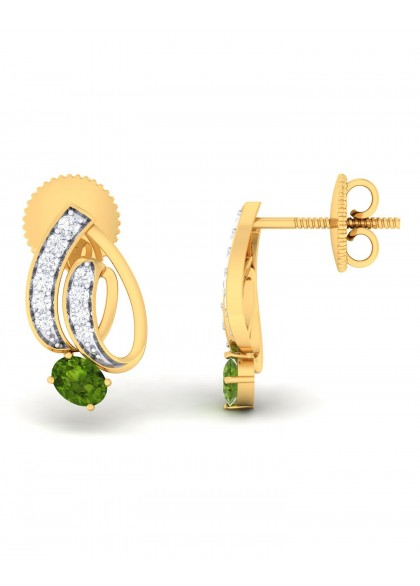GREEN TWIRL EARRINGS