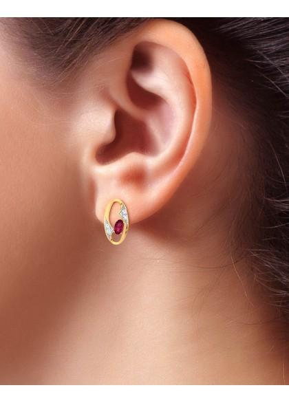 IRIS RED EARRINGS