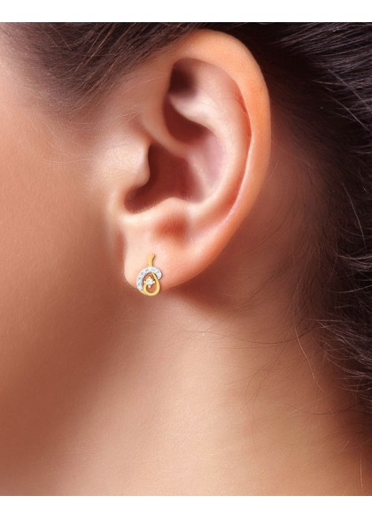 THE DIAMOND CURVE EARRING
