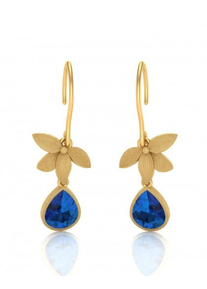 BLUE STAR FLOWER EARRINGS