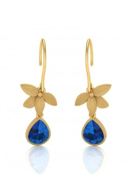 BLUE STAR FLOWER EARRINGS