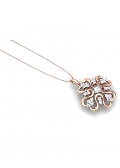 PINK IRIS DIAMOND PENDANT