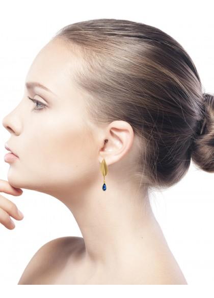 GOLDEN BAY LEAF EARRINGS