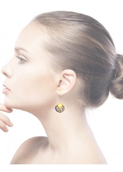 GOLDEN MESH EARRINGS