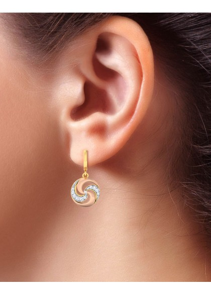 GOLD CYCLONE EARRINGS