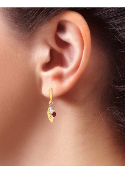 RUBY EDGE EARRINGS