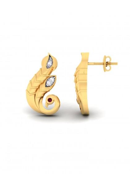 GOLDEN PEACOCK EARRINGS