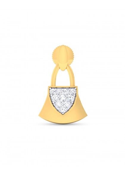 DIAMOND LOCK EARRINGS
