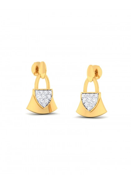 DIAMOND LOCK EARRINGS