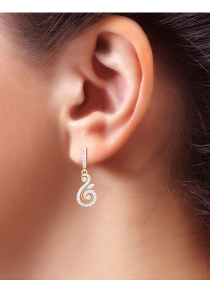 DAZZLING SWAN EARRINGS