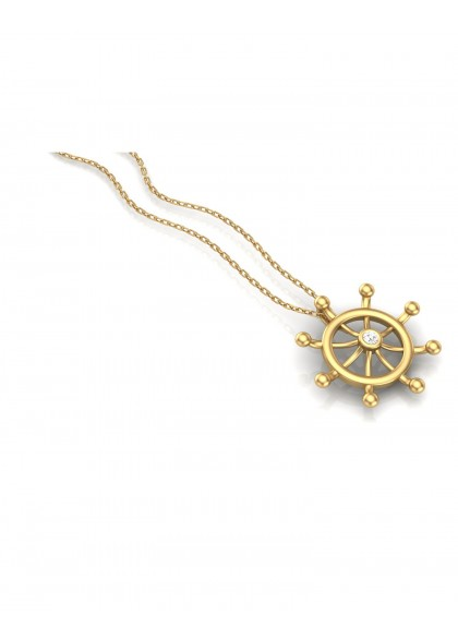 GOLDEN WHEEL PENDANT