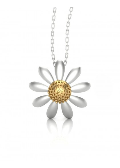 WHITE SUNFLOWER PENDANT