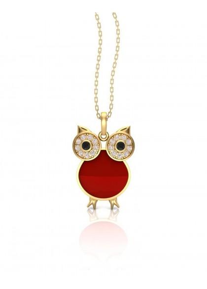 RED OWL PENDANT
