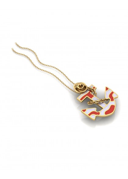 RED ANCHOR PENDANT