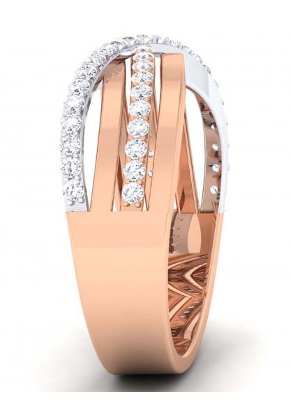 CROSS WAY DIAMOND RING