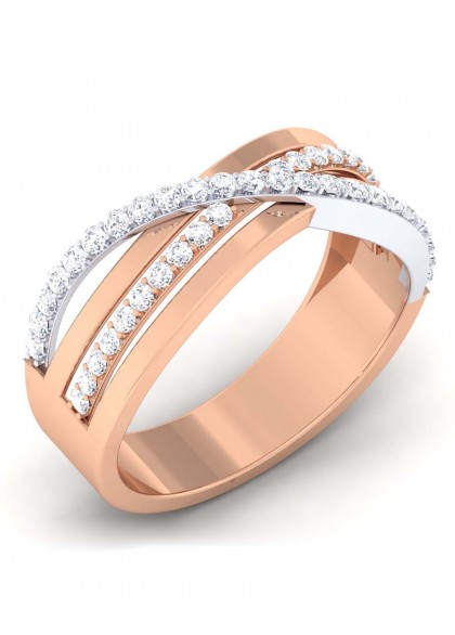 CROSS WAY DIAMOND RING