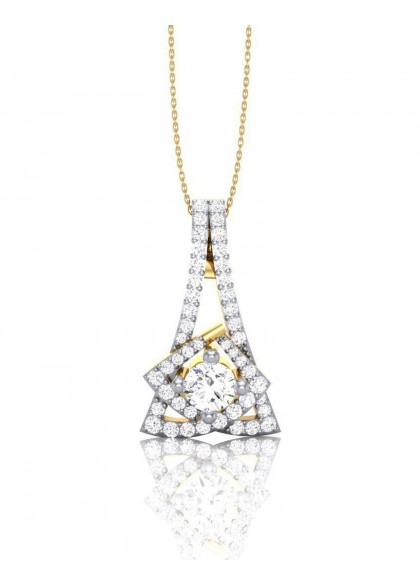 EIFFIL TOWER DIAMOND PENDANT
