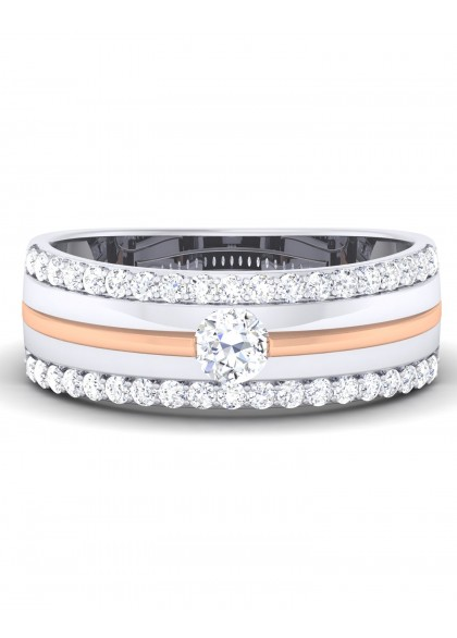 THE MOON ROSE DIAMOND RING