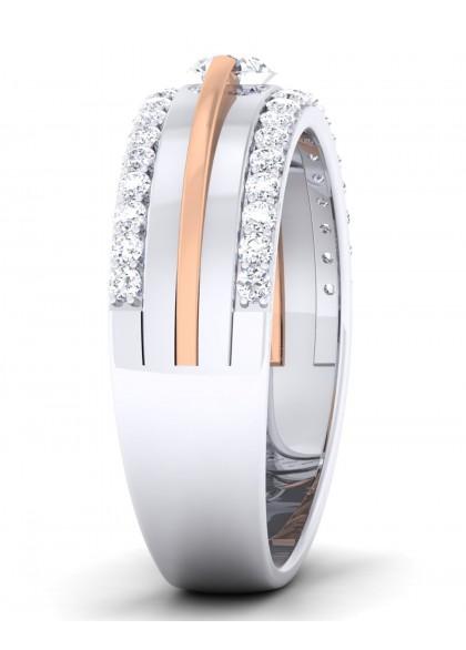 THE MOON ROSE DIAMOND RING