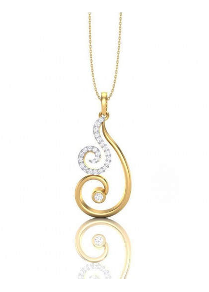 SWAN DIAMOND PENDANT