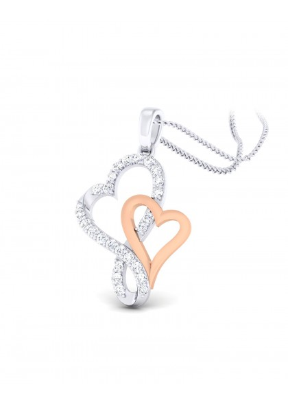 CONJOINED HEARTS PENDANT