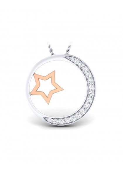 RG STAR AND MOON PENDANT