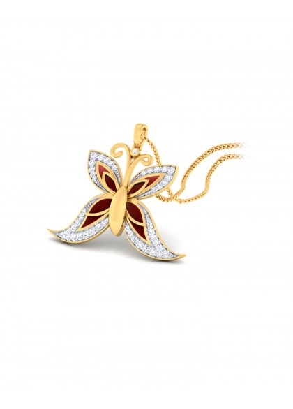 THE RED BUTTERFLY PENDANT