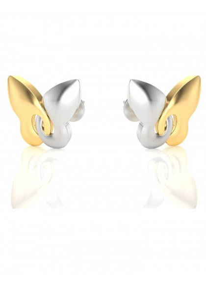 TWIN COLOR BUTTERFLY EARRINGS
