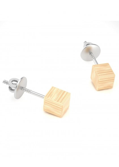 GOLDEN CUBE EARRING