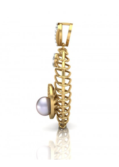 A PEARL KISSED PENDANT
