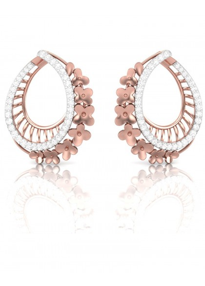 CASCADING FLORAL EARRINGS