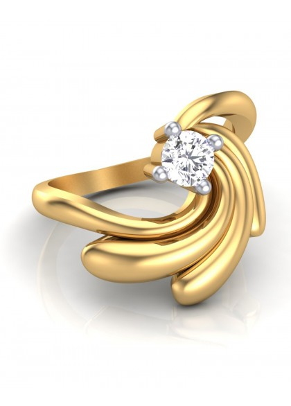 ASTER SOLITAIRE RING