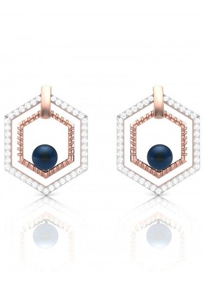 STYLISH ROSE GOLD EARRINGS