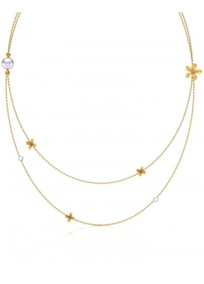 A DUAL STRING GOLD NECKLACE