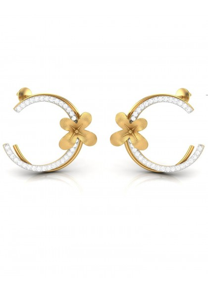 FLORAL BAND EARRINGS