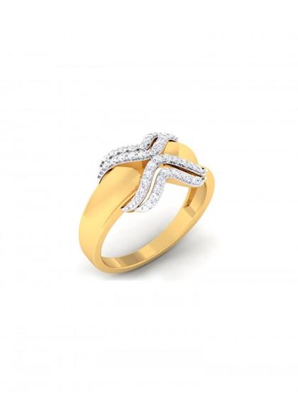 DIAMOND GROOVE RING