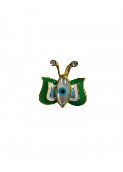 GREEN EVIL EYE BUTTERFLY