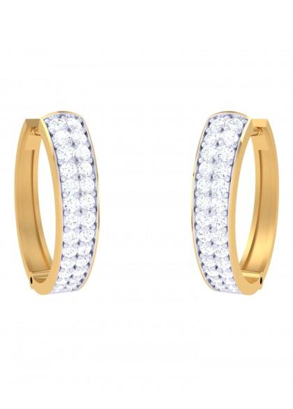 SIMPLE DIAMOND HOOPS
