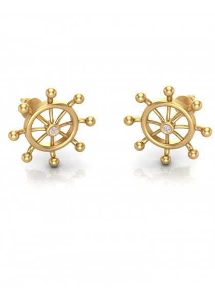 GOLDEN WHEEL EARRINGS