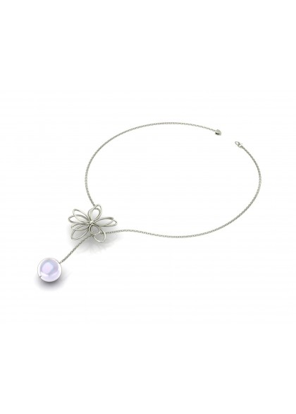 FLANNEL PEARL NECKLACE