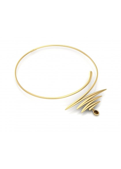 ONE STROKE GOLD  NECKLACE