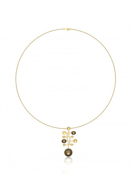 GOLD TRUMPET NECKLACE
